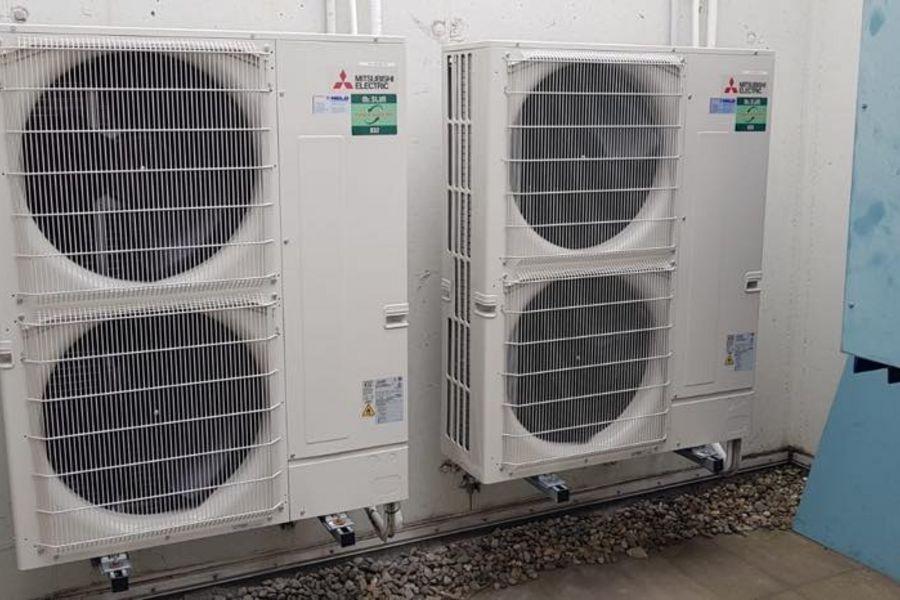 Klimaanlage mit Schaltschrank